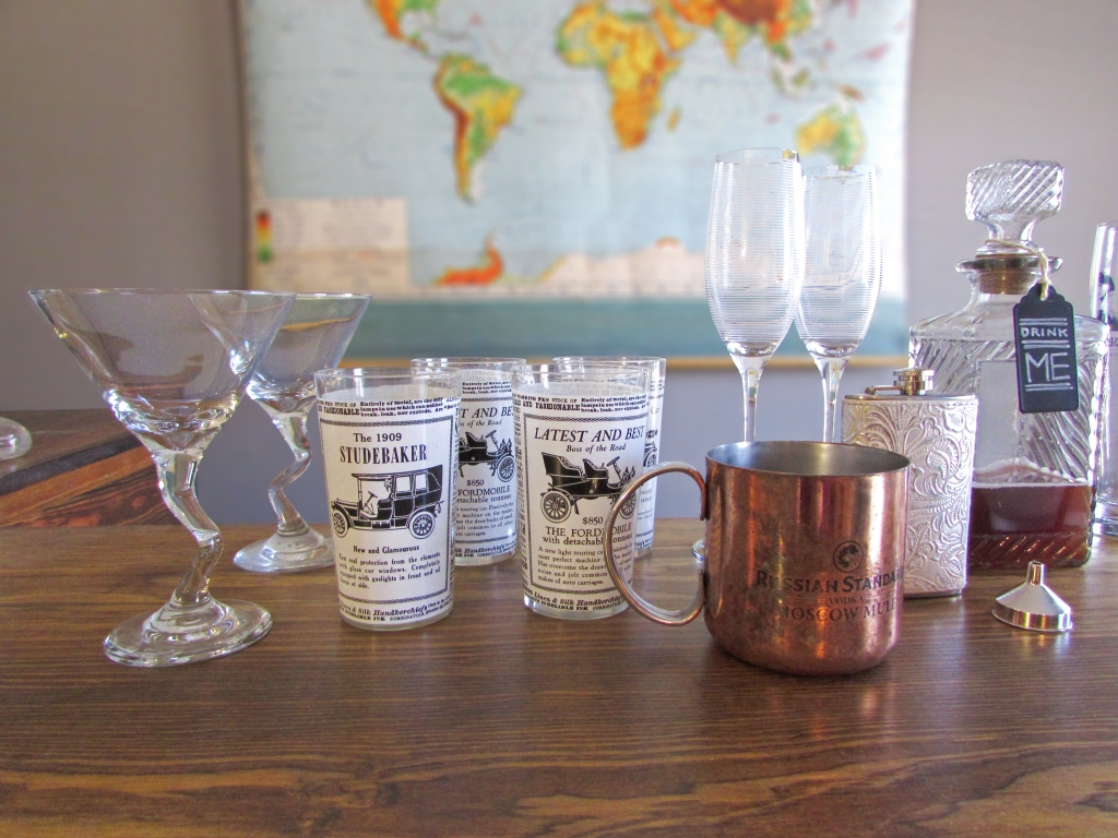 bar cart glassware 1