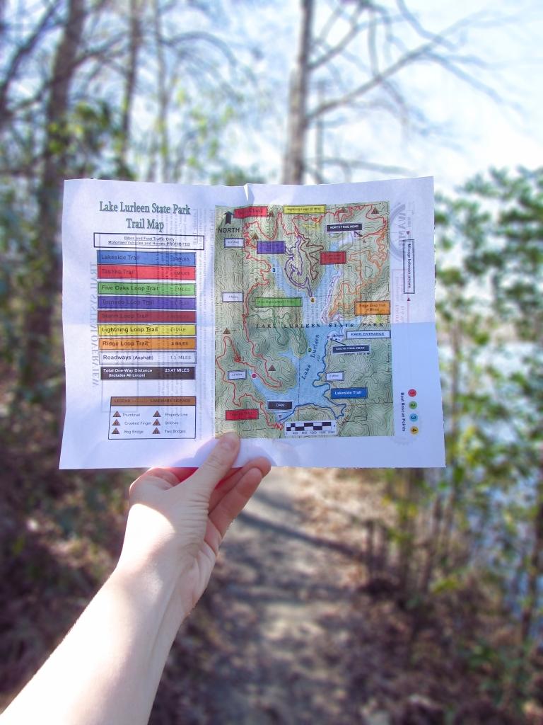 Lake Lurleen hiking map
