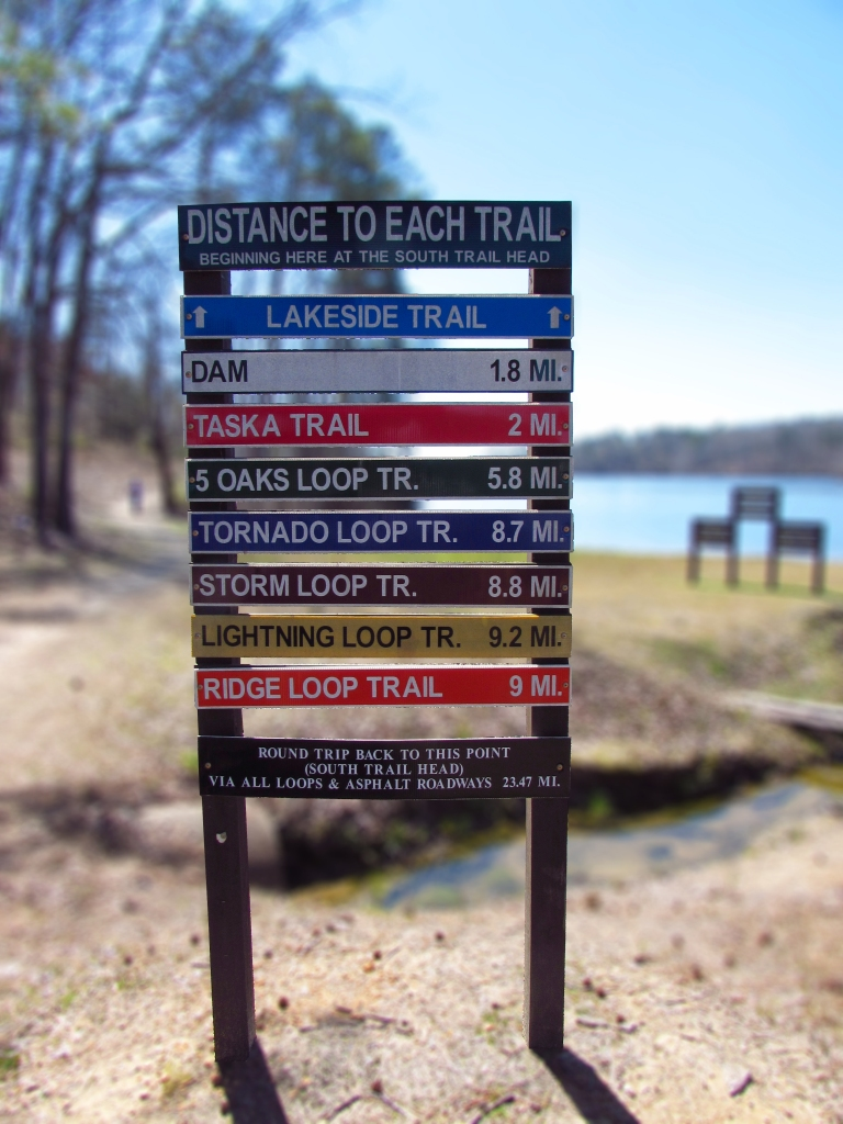 Lake Lurleen state park trail head sign