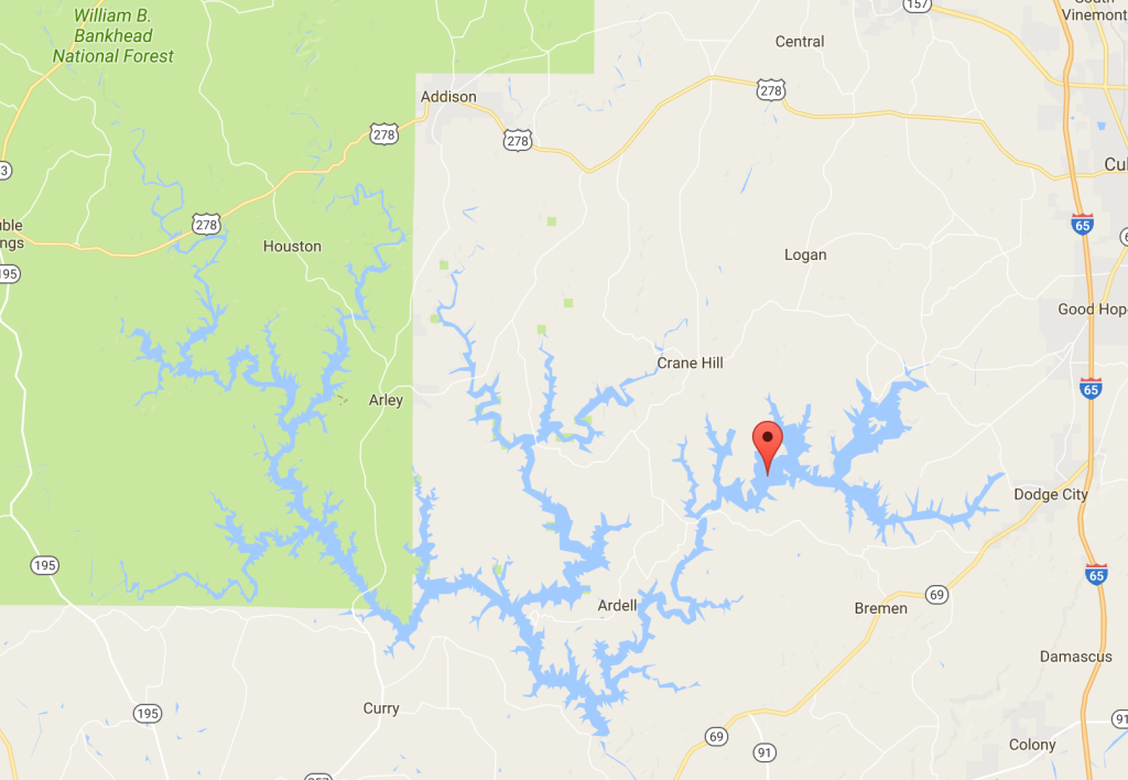 restlessroots_smith lake AL map